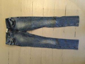 Zara Basic Denim Jeans Skinny Röhrenjeans blau S