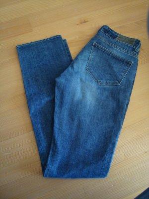 ZARA Basic Denim jeans straight slim leg stretch 34/XS