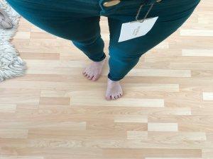 Zara Basic Denim Super Skinny Soft Jeans Hose Grün