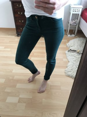 Zara Basic Denim Super Skinny Soft Jeans Hose Grün