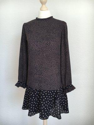 Zara Basic dress Kleid Mini Punkte Polkadots xs 34 neu