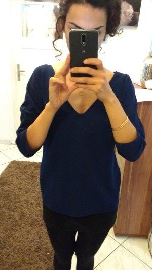 Zara Basic dunkelblaues Oberteil