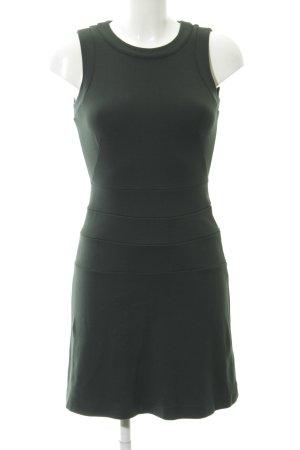 Zara Basic Etuikleid khaki-grün Allover-Druck Business-Look
