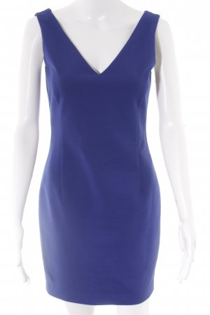 Zara Basic Etuikleid blau Elegant