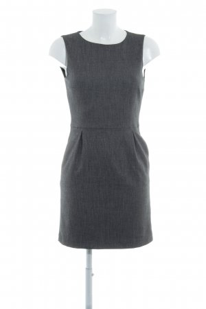 Zara Basic Etuikleid grau Business-Look