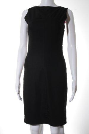Zara Basic Etuikleid schwarz-goldfarben Elegant