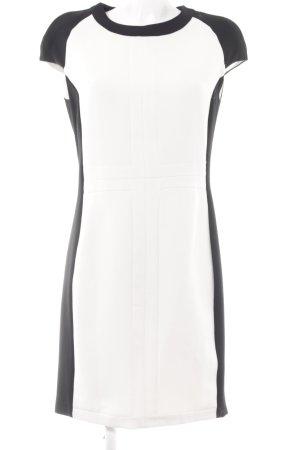 Zara Basic Etuikleid weiß-schwarz Elegant
