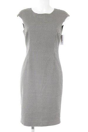 Zara Basic Etuikleid weiß-schwarz Hahnentrittmuster Elegant