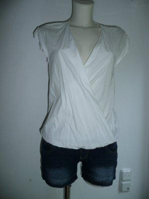 Zara Basic Eyecatcher Sommer Bluse ohne Arm Gr XS 36 weiß
