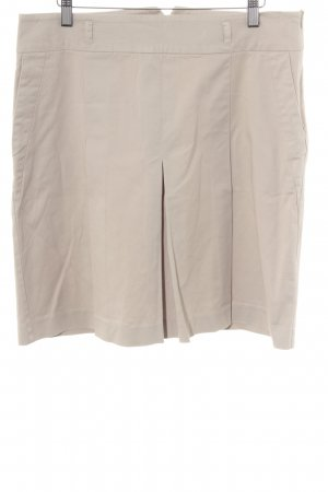Zara Basic Faltenrock beige Business-Look