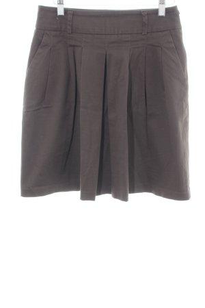 Zara Basic Jupe à plis brun imprimé allover élégant