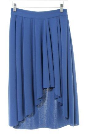 Zara Basic Faltenrock blau Casual-Look