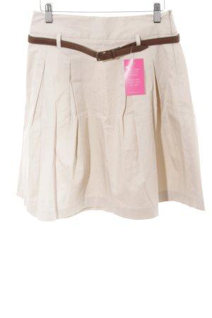 Zara Basic Gonna a pieghe crema stile casual