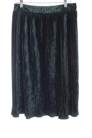 Zara Basic Faltenrock dunkelgrün Casual-Look