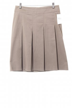 Zara Basic Faltenrock graubraun Casual-Look