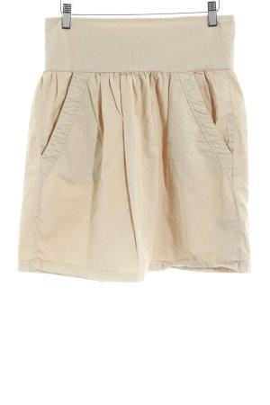 Zara Basic Plooirok licht beige simpele stijl