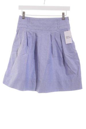 Zara Basic Faltenrock himmelblau Casual-Look