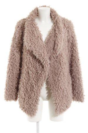 Zara Basic Giacca di pelliccia rosa antico soffice