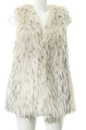 Zara Basic Fellweste hellbeige-grau Street-Fashion-Look