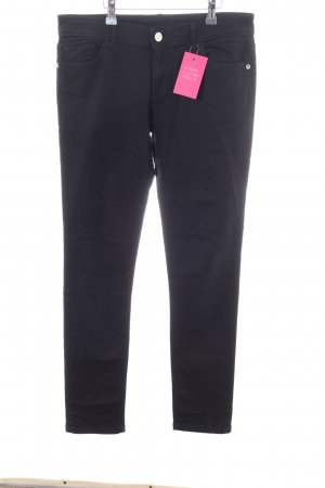 Zara Basic Five-Pocket Trousers black casual look