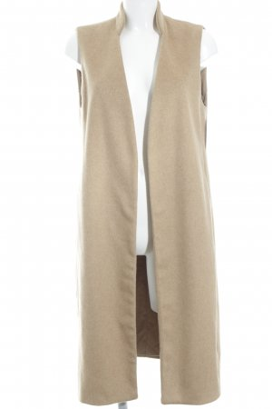 Zara Basic Fleece vest camel casual uitstraling