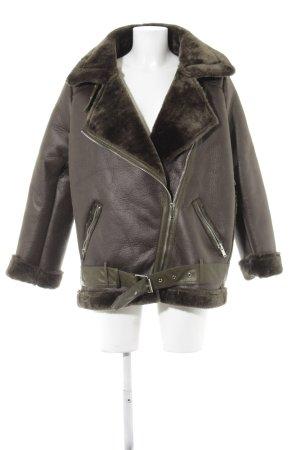 Zara Basic Vliegeniersjack khaki pluizig