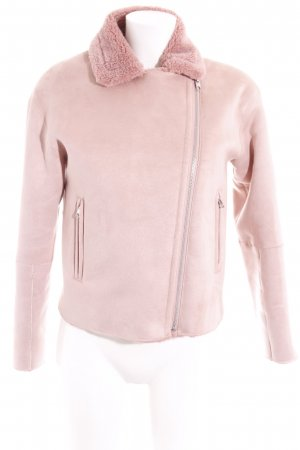 Zara Basic Flight Jacket rose-gold-coloured fluffy