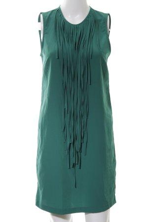 Zara Basic Fransenkleid grün Elegant