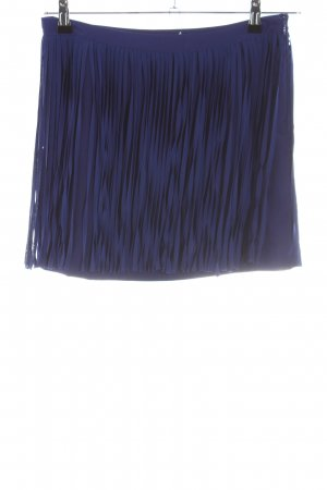 Zara Basic Fransenrock blau Casual-Look