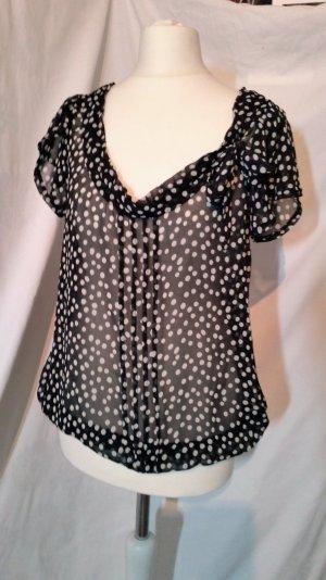 Zara Basic gepunktete Bluse transparent neuwertig Gr S
