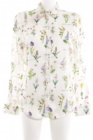 Zara Basic Splendor Blouse flower pattern business style