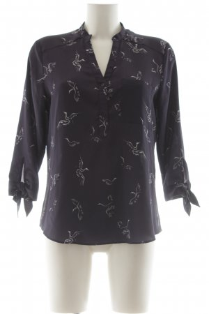 Zara Basic Blouse brillante violet imprimé allover pailleté