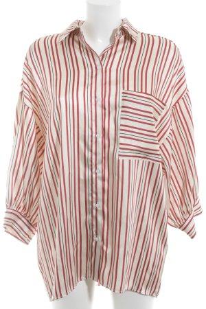 Zara Basic Glanzende blouse gestreept patroon boyfriend stijl