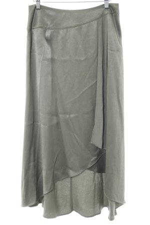 Zara Basic Glockenrock khaki-grüngrau Retro-Look