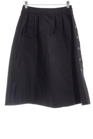 Zara Basic Falda acampanada negro-marrón claro look casual