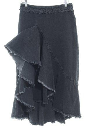de42d95bf Zara Basic Falda acampanada taupe look casual