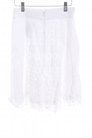 d005d622f Zara Basic Falda acampanada blanco look Boho