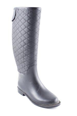 Zara Basic Botas de agua negro estampado acolchado look casual
