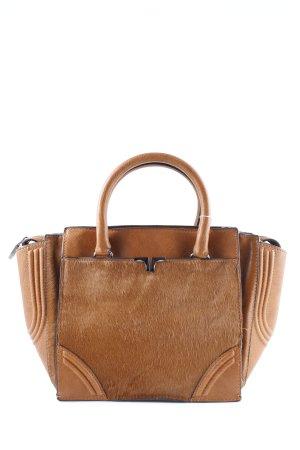 Zara Basic Handtasche cognac-silberfarben Boho-Look