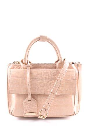 Zara Basic Handtasche nude-goldfarben Casual-Look