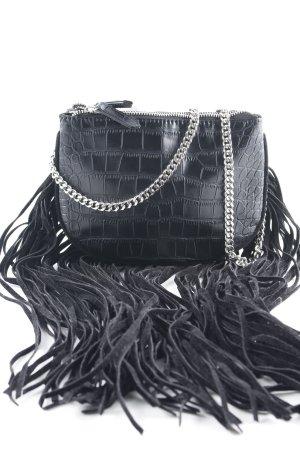 Zara Basic Handtasche schwarz Urban-Look