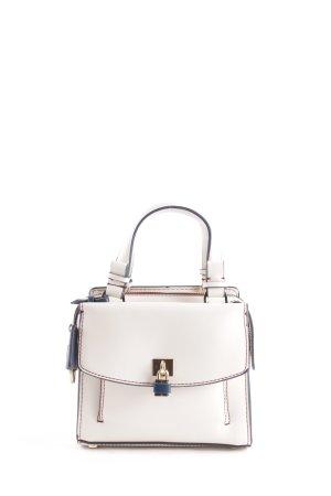 Zara Basic Handtasche wollweiß-dunkelblau minimalistischer Stil