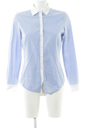 Zara Basic Hemd-Bluse blau-weiß Business-Look
