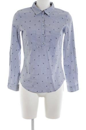 Zara Basic Hemd-Bluse blau Streifenmuster Casual-Look