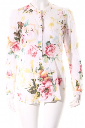 Zara Basic Hemd-Bluse Blumenmuster Casual-Look