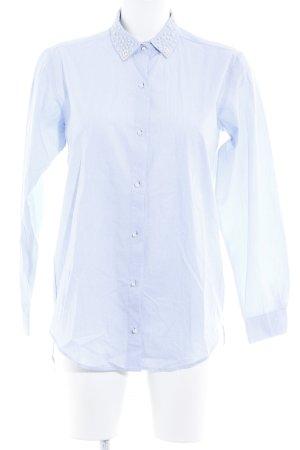 Zara Basic Hemd-Bluse himmelblau Casual-Look