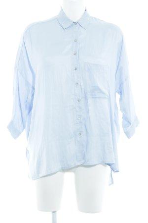 Zara Basic Hemd-Bluse himmelblau schlichter Stil