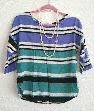 Zara Basic Hemd Bluse Shirt mit Blockstreifen gr s