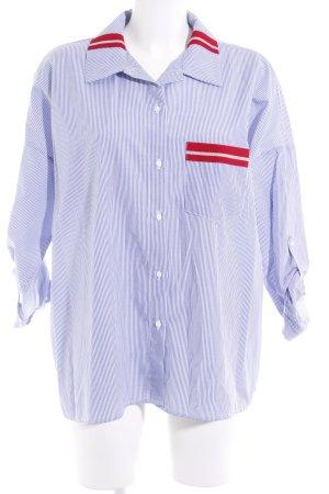 Zara Basic Hemd-Bluse Streifenmuster Casual-Look