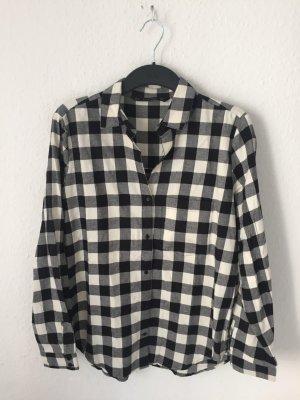 Zara Basic Camisa de leñador crema-negro